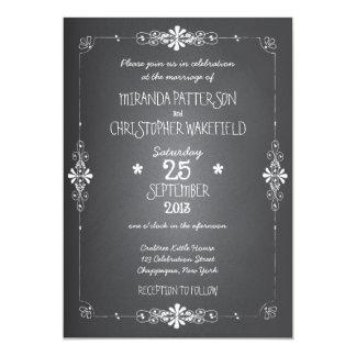 Invitación del boda de la pizarra invitación 12,7 x 17,8 cm