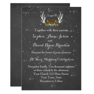Invitación del boda de la pizarra de las astas del