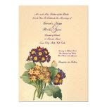 Invitación del boda de la primavera del vintage invitación 12,7 x 17,8 cm