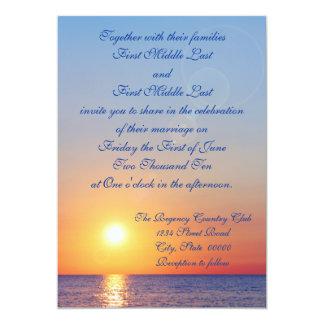 Invitación del boda de la puesta del sol