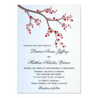 Invitación del boda de la rama de la baya del