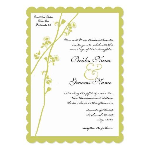 Invitación del boda de la rama de la flor salvaje