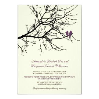Invitación del boda de la rama de los pájaros del