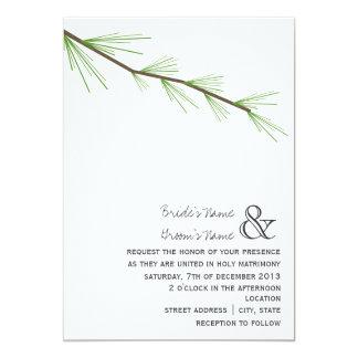 Invitación del boda de la rama del pino