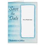 Invitación del boda de la raya azul felicitaciones