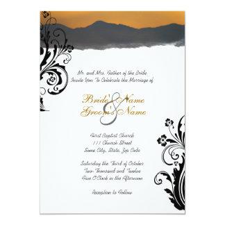 Invitación del boda de la salida del sol de la