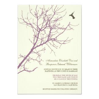 Invitación del boda de la silueta del árbol