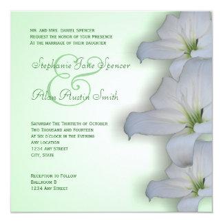 Invitación del boda de la silueta del lirio blanco