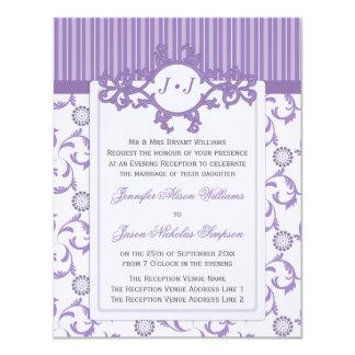 Invitación del boda de la tarde en modelo de la invitación 10,8 x 13,9 cm