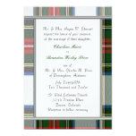 Invitación del boda de la tela escocesa de tartán invitación 12,7 x 17,8 cm