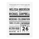 Invitación del boda de la tipografía