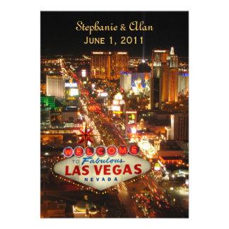 Invitación del boda de la tira de Las Vegas
