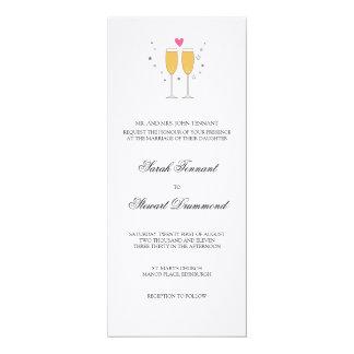 Invitación del boda de la tostada de Champán -