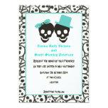 Invitación del boda de la turquesa de Halloween de Invitación 12,7 X 17,8 Cm