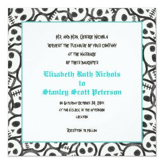 Invitación del boda de la turquesa de Halloween de Invitación 13,3 Cm X 13,3cm
