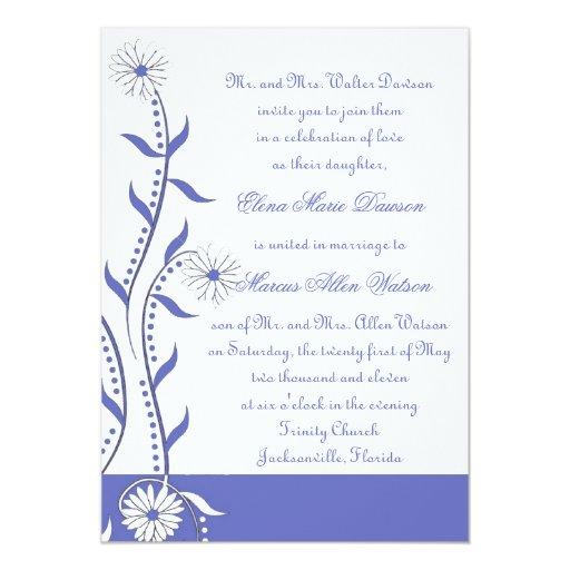 Invitación del boda de la vid de la margarita del
