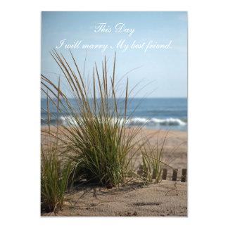 Invitación del boda de la vista al mar