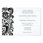 Invitación del boda de la voluta de la flor invitación 12,7 x 17,8 cm