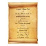 Invitación del boda de la voluta del pergamino