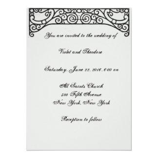 Invitación del boda de la voluta del remolino