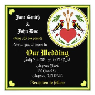 Invitación del boda - de largo, maleficio feliz de