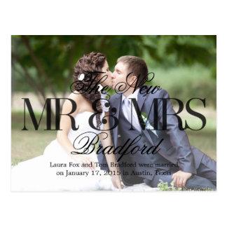 Invitación del boda de las buenas noticias - negro tarjetas postales