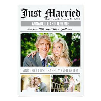 Invitación del boda de las noticias del boda -