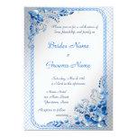 Invitación del boda de los azules marinos en la invitación 12,7 x 17,8 cm