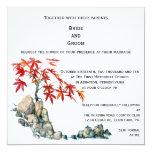 Invitación del boda de los bonsais del arce rojo