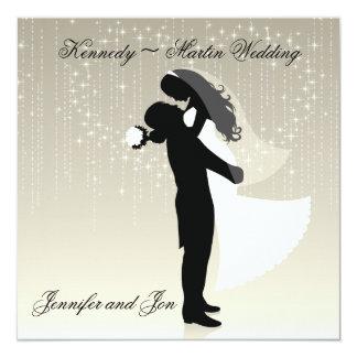 Invitación del boda de novia y del novio