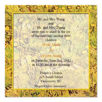 invitación del boda de padres de novia y del novio