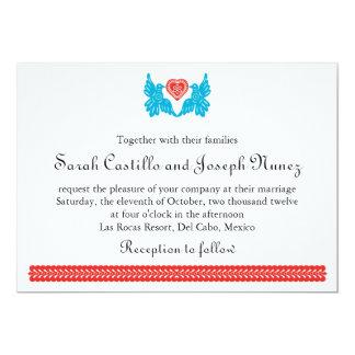 Invitación del boda de Papel Picado de los pájaros