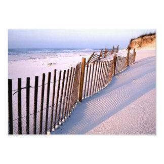 Invitación del boda de playa de la duna de Sandy