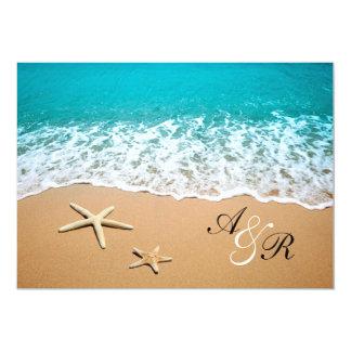 Invitación del boda de playa del destino de las invitación 12,7 x 17,8 cm