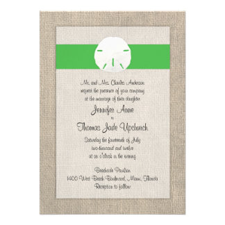 Invitación del boda de playa del dólar de arena -