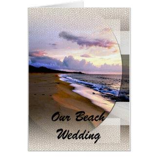 Invitación del boda de playa tarjeta de felicitación