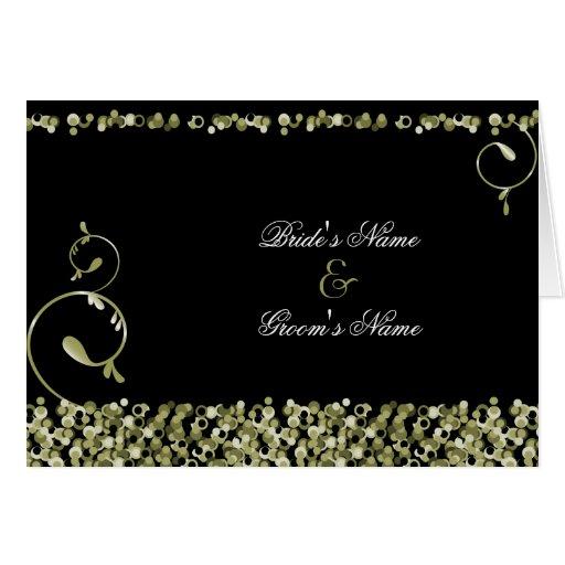 Invitación del boda de Sequinned:: Oro Tarjeta De Felicitación