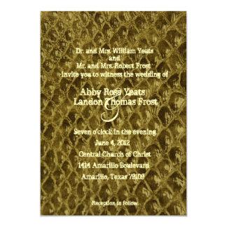 Invitación del boda de Snakeskin