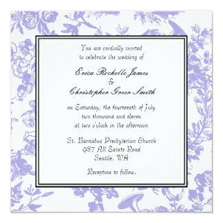 Invitación del boda de Toile del bígaro
