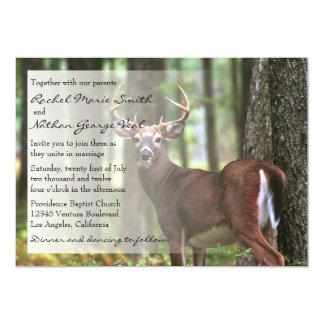 Invitación del boda de un cazador invitación 12,7 x 17,8 cm