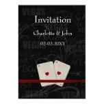 invitación del boda de vegas invitación 12,7 x 17,8 cm
