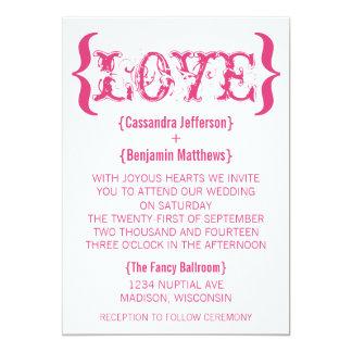 Invitación del boda del abrazo del amor, rosa