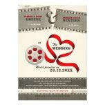 Invitación del boda del amor de la película