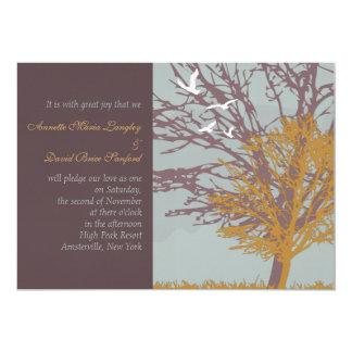Invitación del boda del amor del otoño