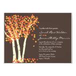 Invitación del boda del árbol de Aspen de la caída