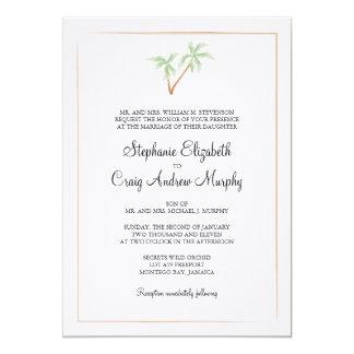 Invitación del boda del árbol de la acuarela invitación 12,7 x 17,8 cm