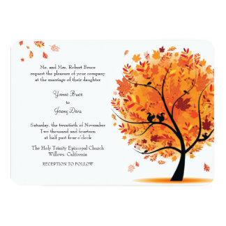 Invitación del boda del árbol de la caída/del