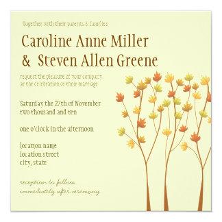 Invitación del boda del árbol de la ramita de la