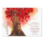 invitación del boda del árbol de los corazones