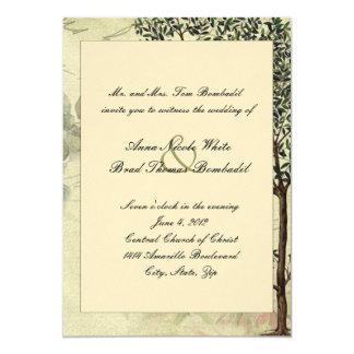 Invitación del boda del árbol de Myrtle del